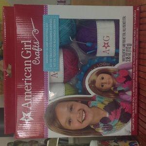 Cute American girl scarf knitting kit